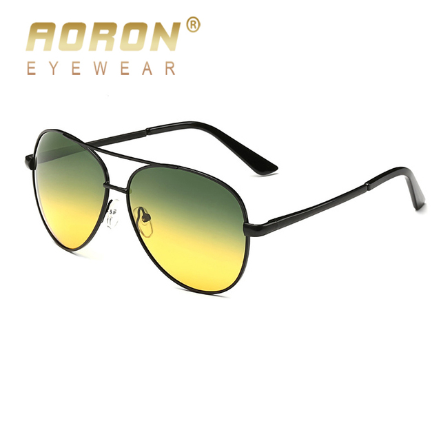 78c12aadce AORON Day Night Vision Polarized Sunglasses Vintage Men Women Glasses  Multifunction Reduce Glare Goggles Eyewear Oculos de sol