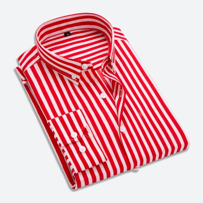 T-bird Shirt Men 2018 New Striped Long Sleeves Mens Dress Shirts Camisa Masculina Spring Summer Brand Casual Male Shirt Tops 5XL 1