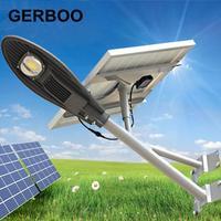 2016 NEW LED Solar Powered Panel Street Light Solar Sensor Lighting Outdoor Path Lamp Integrated Solar Street Light with Timer