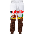Nutella Joggers 3d Printed snacking spread on a crispy Jogger Sweatpants Women Men Full Length Hip-hop Trousers Pants