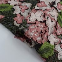 Hot Sale Hydrangeas Mesh Embroidered Lace Fabric For Dress High Quality Cheongsam Tissus au Metre Pour Habillement Cloth DIY