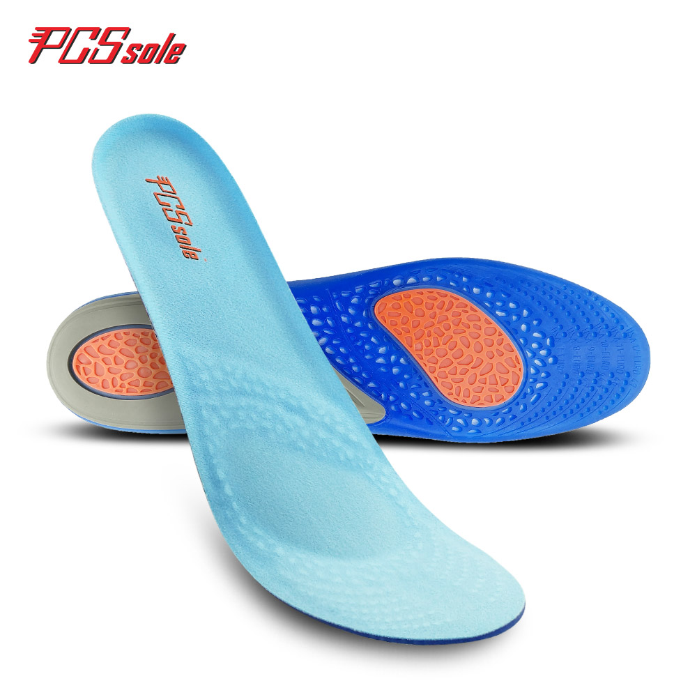 PCSsole  gel insoles orthopedic inserts silicone comfortable massage insoles soft shoes pad cushion elastic pad inserts T1006 2017 new gel orthopedic insoles massage