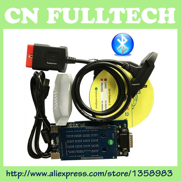 (3pcs/lot) with Bluetooth! new vci for TCS CDP PRO plus 2015.1 Or 2014.R2 Software + Carton box by DHL Free Shipping