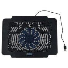 USB супер тонкий вентилятор ноутбук охлаждающая подставка ноутбук радиатор-черный