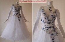 Ballroom Competition Dance Dress For Women New Profession White Tango Modren Waltz Ballroom Dancing Dresses