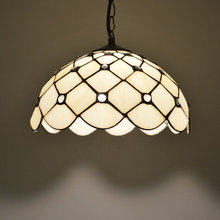 Tiffany pendant light transparent crystal beads lamp