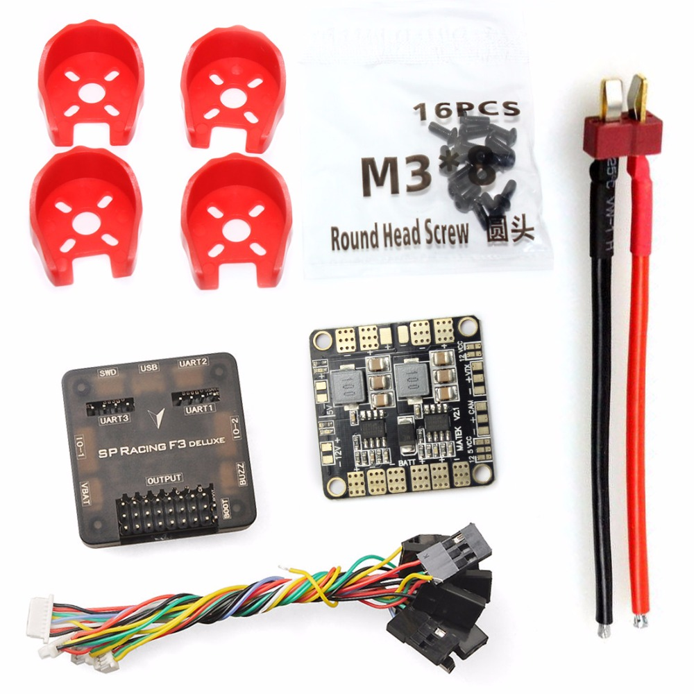 DIY Toys RC FPV Drone Mini Racer Quadcopter Kit 190mm SP Racing F3 Deluxe Flight Controller 2200mah Battery radiolink T8FB TX RX