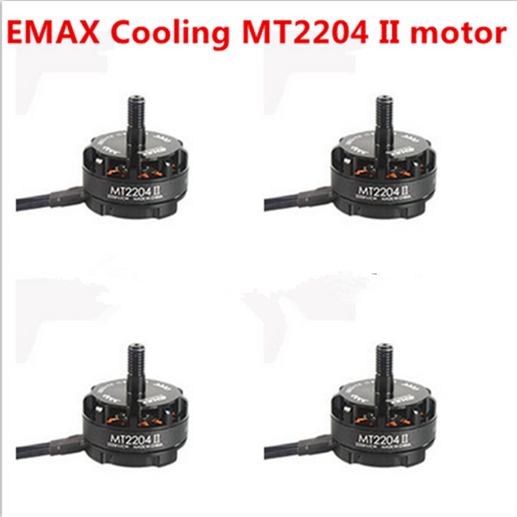 New 4x Emax MT2204 II 2300KV Cooling Brushless Motor 2-4S for Mini Quadcopter QAV250 PRO 280 270 купить