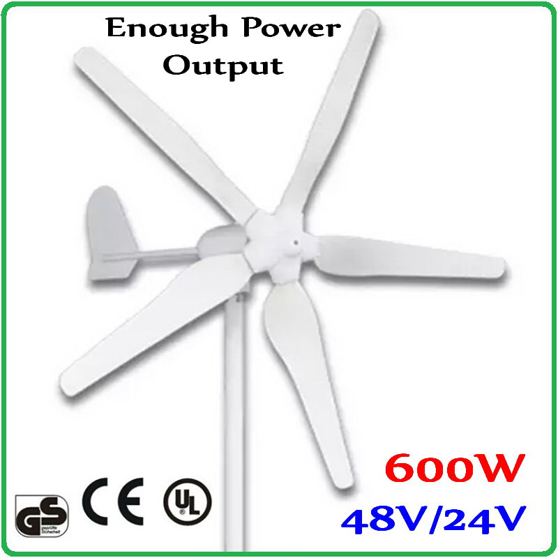 600W 48V or 24V Wind Turbine Generator with 1700mm Rotor Diameter 100% enough power output wind generator Max 850W free shipping 600w wind grid tie inverter with lcd data for 12v 24v ac wind turbine 90 260vac no need controller and battery