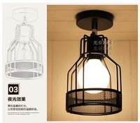E27 LED Cage Shaped Industrial Retro Ceiling Light Iron Material Outdoor Lighting Modern Led Ceiling Lights