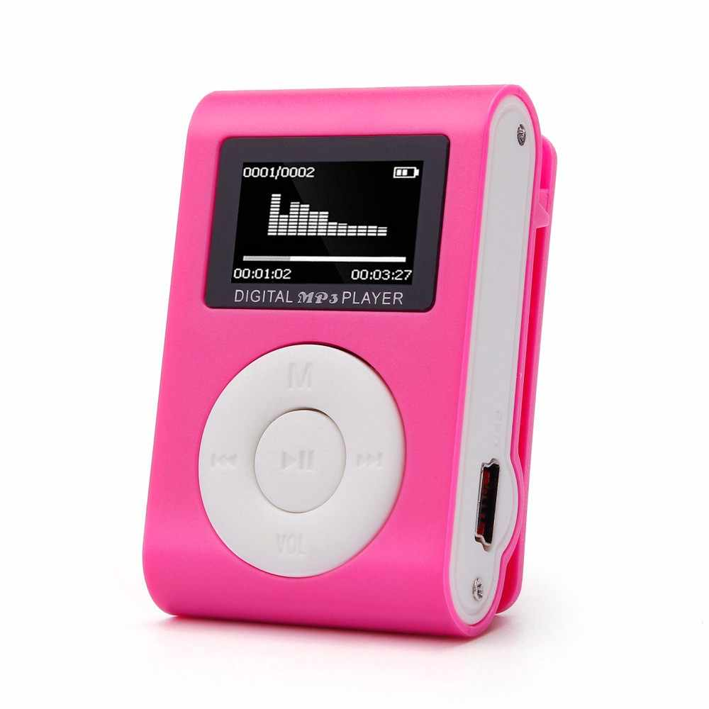 Hiperdeal 2019 MP3 Mini Music Media Clip Speler Draagbare Lcd-scherm Usb Ondersteuning Micro Sd Tf Card Walkman Lettore d30 Jan9
