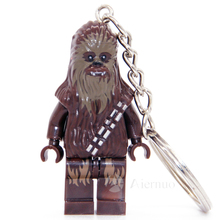 No.199 Chewbacca star wars TFA The Force Awakens Keyring Minifigure Keychain Custom Ring  Handmade Key Chain Building Blocks Toy