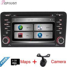 "7"" Two Din Wince Car GPS For A3 2003 2004 2005 2006 2007 2008 2009 2010 2011 2012 2013 With DVD Radio Stereo BT Free Shipping"