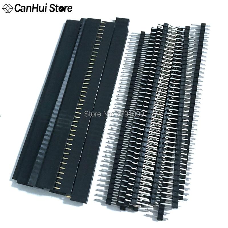 20 PCS Male /& Female 40pin 2.54mm SIL Header Socket Row Strip PCB Connector/_A
