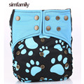 [simfamily]1Pc Reusable Waterproof  Bamboo Charcoal AIO Baby Cloth Diaper Nappy,3-36 Months Baby Use,Wholesale Selling