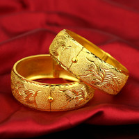 Womens Wedding Bridal Bangle Bracelet Dubai Bangle Jewelry Africa Arab Super Thick Bangles Jewelry