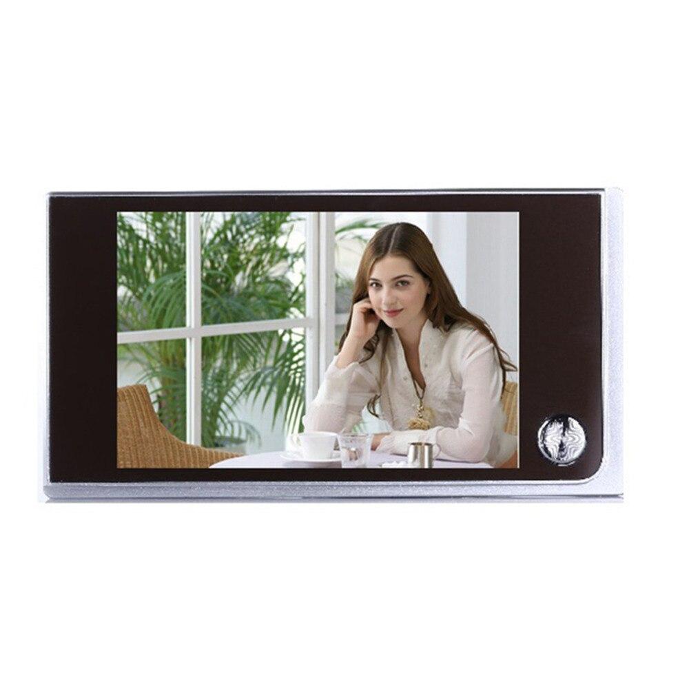 Visionneuse de porte LCD 3.5 pouces de sécurité à la maison numérique TFT porte mémoire judas Vedio-eye 4 x AAA piles caméra de porte alimentée