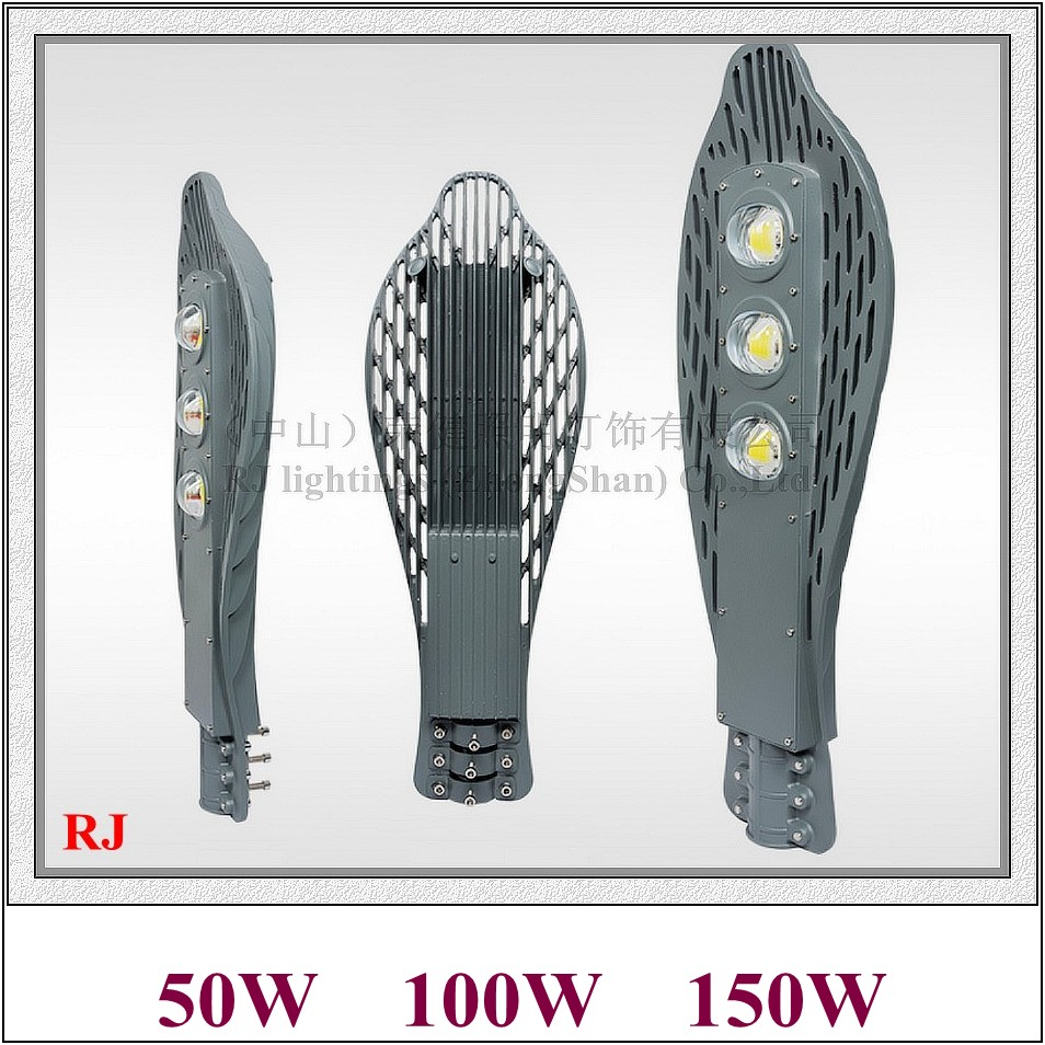 LED street lamp road light waterproof 50W / 100W / 150W LED street light AC85-265V input die cast aluminum Dolphin style RJ-LS-N