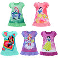 3-10Y Kids Girls Cartoon Dress Baby Girls Mermaid Snow White Sofia Dress Kids Princess Party Dress Kids Girls Cute Summer Dress