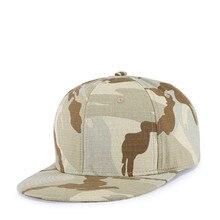 New Arrival Cotton Camouflage Hat Hip Hop Cap for Men Simple Style 55-61cm
