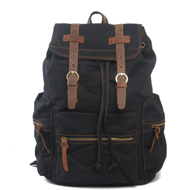 e5fb41ca5eff New Canvas Mens Bag Vintage Style Backpack Male Military Shoulder Bags Soft  Four Classics Colour Men