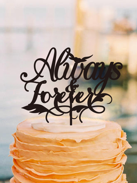 Cake Decorating Tools Wedding Decor Initial Anniversaire Accessories Anniversary Decoration Toppers