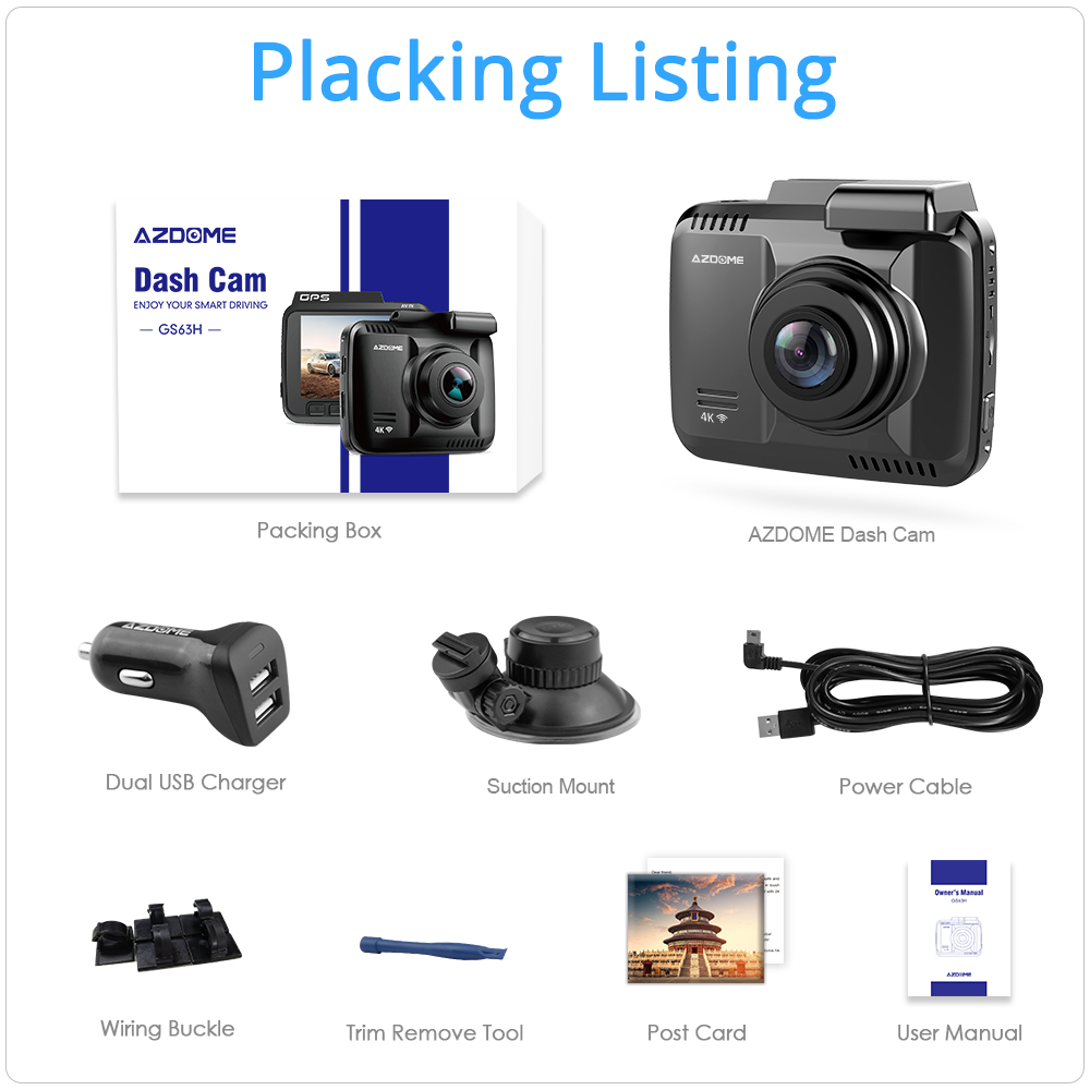 4K WiFi GPS Dash Camera Full HD - GS63H 18