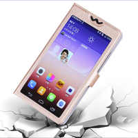 Full View Windows PU Leather Stand Phone Case for Philips Xenium X818 X 818 V387 V 387 Luxury Flip Cover for Philips S653H X586