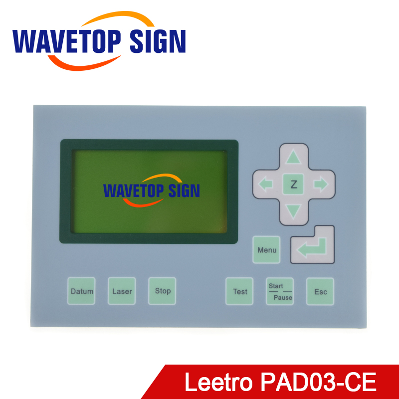 Leetro lcd control panel PAD03-CE use for mpc6515C mpc6525A mpc6565 mpc6585 lcd panel laser cutter and laser engraving machine leetro original software green dongle for mpc6515c and mpc6525a
