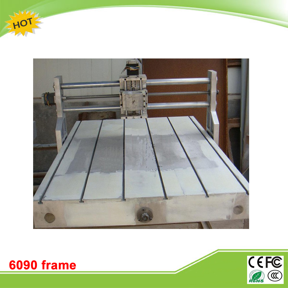 RU duty free CNC 6090 Casting Frame kit with lathe bed ball screw bearing stepper motor and coupler