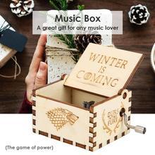 Caja de música Retro Vintage de madera con manivela y adornos para el hogar canciones clásicas cómodas de madera contrachapada de abedul Dropshipping