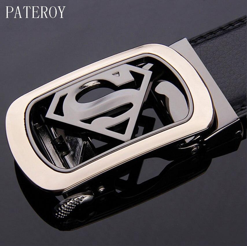 [PATEROY] Cinturón de diseño Cinturones Hombres Cinturón de cuero de alta calidad Hombres Pantalones vaqueros de diseño Ceinture Homme Luxe Marque Cinto Metallica Lujo