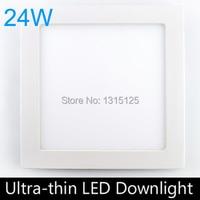 Promo 20 pzas/lote, 24 W SMD2835 empotrada de luz de techo de alta calidad, luces de Panel LED cuadradas de 300mm, lámpara LED AC85-265V + envío gratis