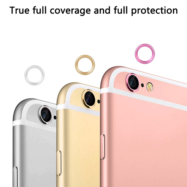 sports shoes d8286 d09f6 US $0.78 21% OFF|Circle Metal Lens Film Protector Case Cover Phone Camera  Guard Ring Bumper For Iphone 6 6S 7 8 Plus Lens Protection Ring P15-in  Phone ...