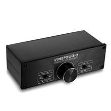 Mini Full-balanced Passive Preamp 2-Channel Pre-Amplifier Audio Volume Controller For Home A zerozone high precision 0 1% version relay volume controller balance preamp l6 10