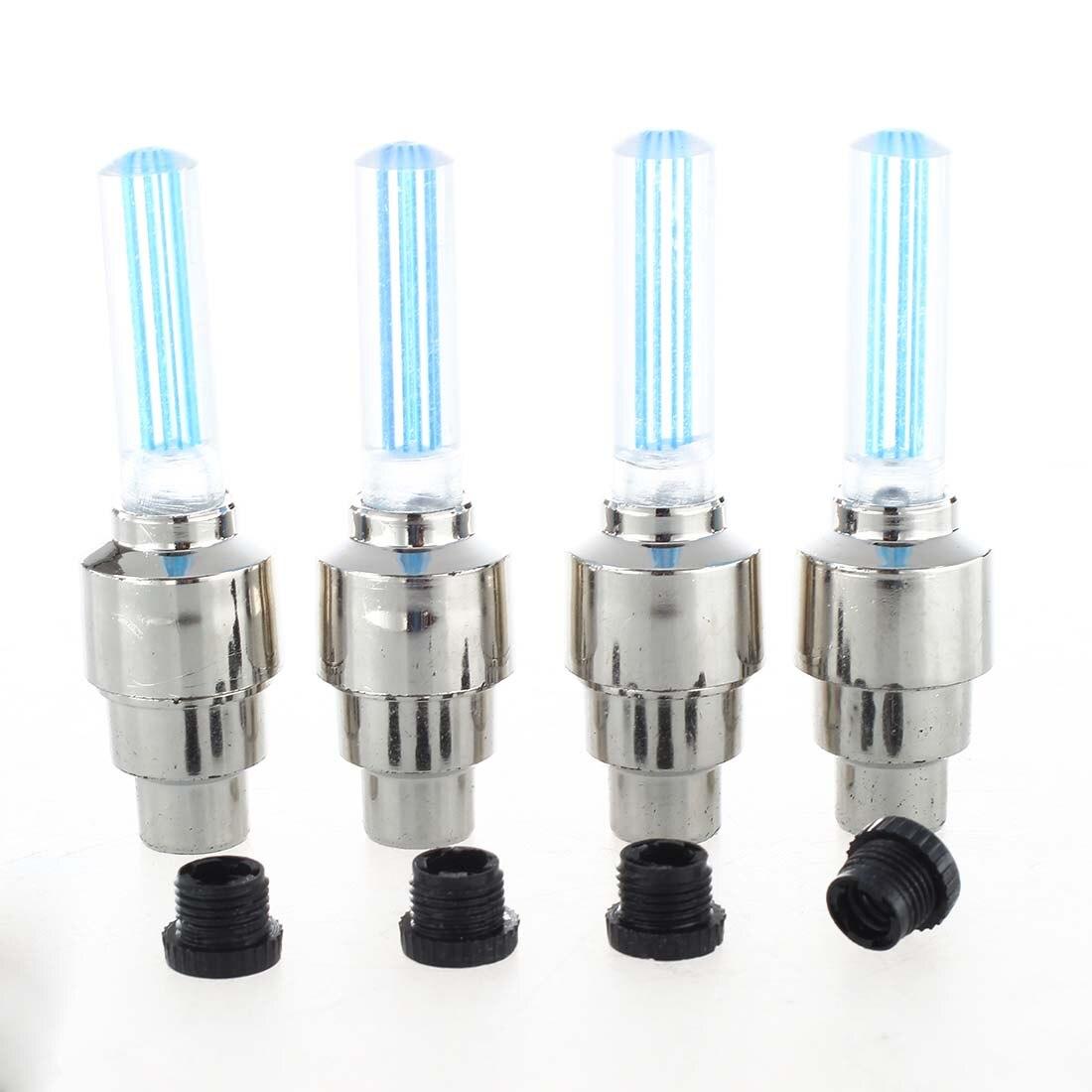 4 х Неон светодиодная вспышка света лампы велосипед автомобильных шин колес Клапан заглушки случайно отправить ...