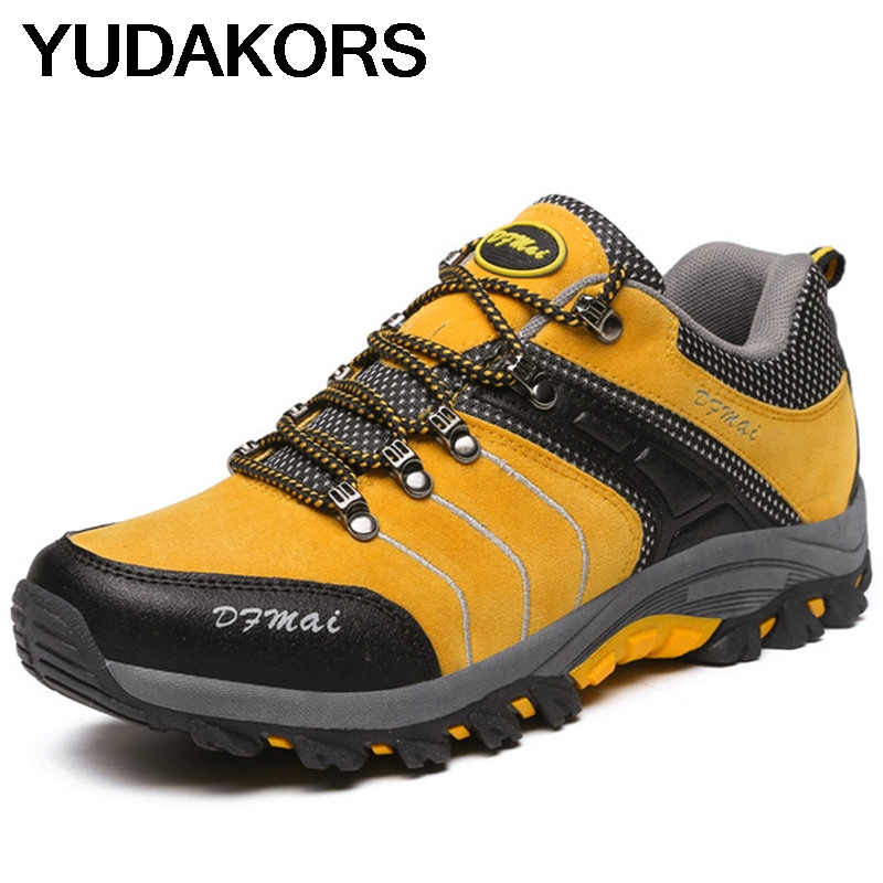 2019 Hiking Shoes For Men Non Slip Breathable Hiking Sneakers Outdoor Trail Camping Climbing Mountaineering Hunting Shoes YD207