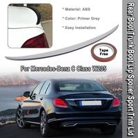 Rear Boot Trunk Boot Lip ABS Material Exterior Rear Spoiler Sport Trim Lid For Mercedes Benz C Class W205