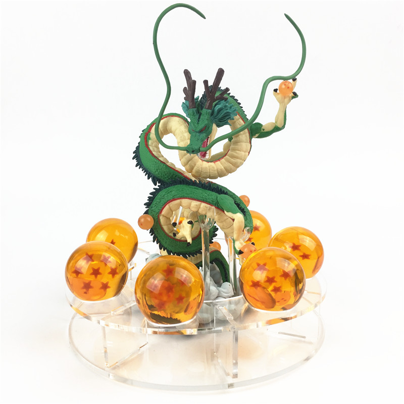 Newest Anime Dragon Ball Action Figures Shenron Set Dragonball Z Figures Set Version. 2 Dragon+7pcs Balls+Shelf Figuras DBZ Toys