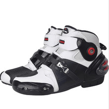 Moto Racing Leather Motorcycle Boots Shoes Motorbike Riding Sport Road SPEED Professional Botas Men Women Black color new riding tribe fire wheels motorcycle road vehicles boots automobile racing boot riding shoes
