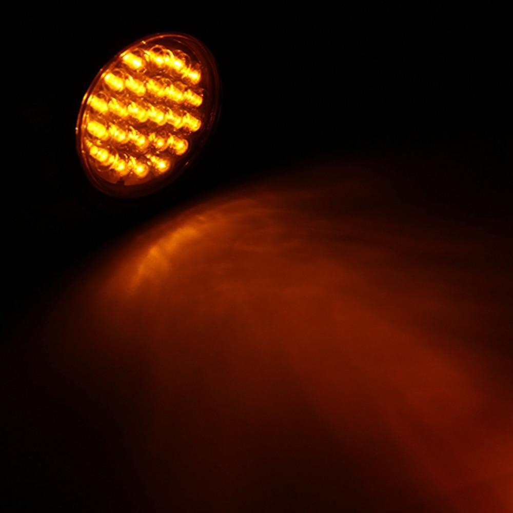 24 LED Car Rear Tail Light Stop Brake Light Round Reverse Lamp for 12V 24V Truck Trailer Van Lorry Caravan in Car Light Assembly from Automobiles Motorcycles