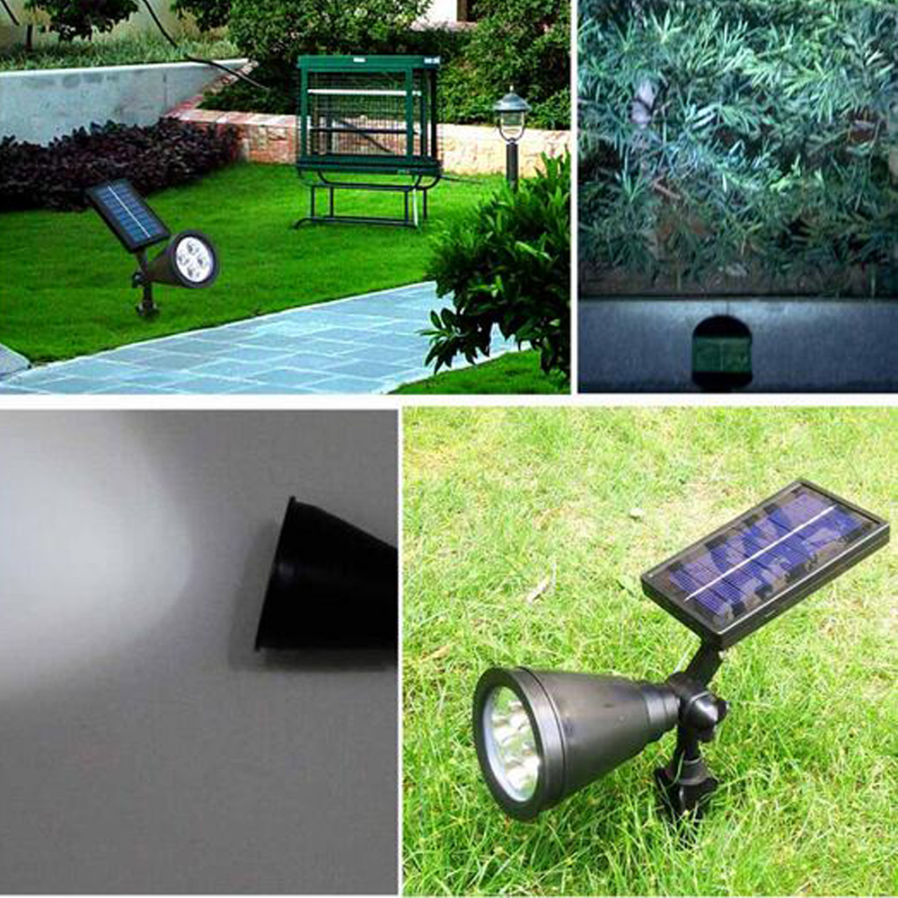 T SUN In Ground IP65 Solar Powered Spotlight with 4 to7 LEDs and Rechargeable Lithium Battery 26