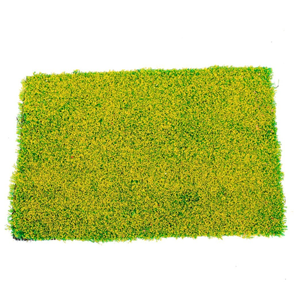 Hot Sale Green Grass Mat Railway Model Train Layout 20 x 30cm w/ Yellow Flower