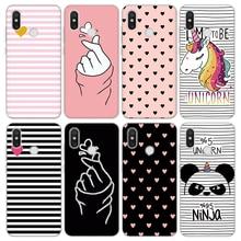 Love Heart TPU Coque For Xiaomi Pocophone F1 Mi A2 Case 5 4