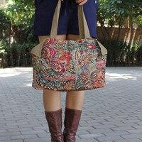 Free Shipping 2014 New Fashin National Trend Small Fresh Casual Canvas Shoulder Bag Flower Cloth Bag