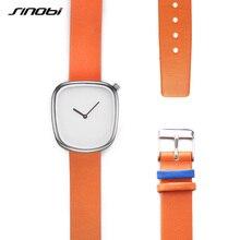 Sinobi Estrenar Simple Reloj de Moda de Lujo Casual Mujer Mujer Dama Hombre Hombres Relojes de Pulsera Vestido de Las Mujeres Reloj de pulsera de Regalo 2017