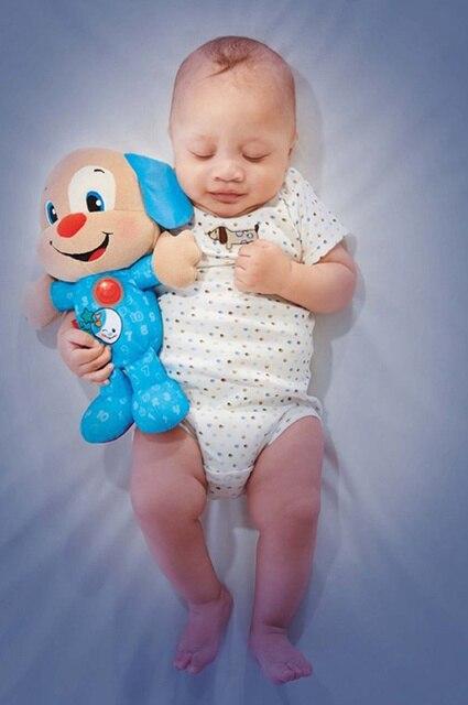 Новый Детские игрушки милый сон Легкая музыка Собака Умиротворение и Свечение собаки сон свет мягкий световой и зондирования плюшевые игрушки куклы дети подарок для ребенка