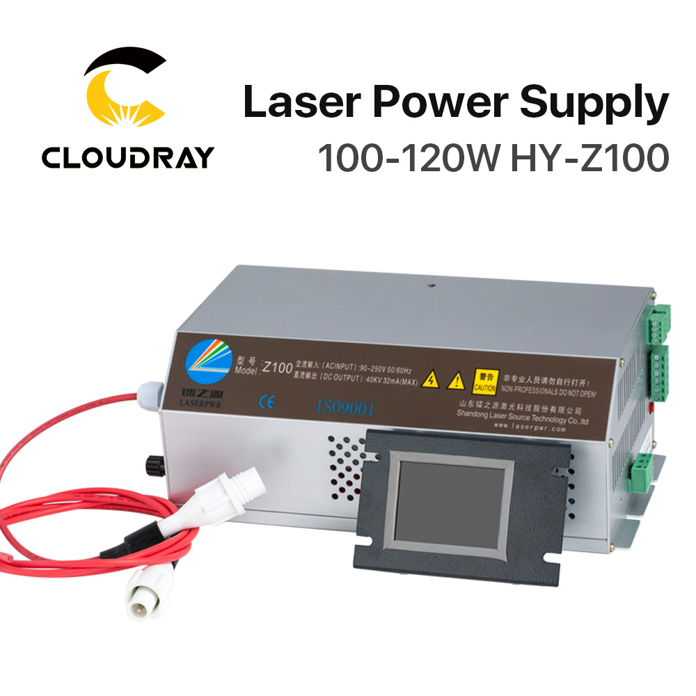 Cloudray 100 120W CO2 Laser Power Supply Monitor AC90 250V EFR Tube for CO2 Laser Engraving
