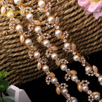 Leaf Shape Crystal Alloy Bag stickers DIY Sewing Applique Wedding Dress Decoration Rhinestone Crafts