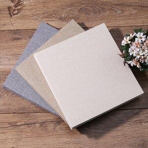 Image 2 - New Linen 16inch DIY Photo Album Lovers Birthday Gift Wedding Photos Baby Photo Ablum Scrapbook Paper Crafts  Albums Sticky